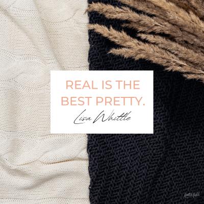 Real är den bästa vackra.