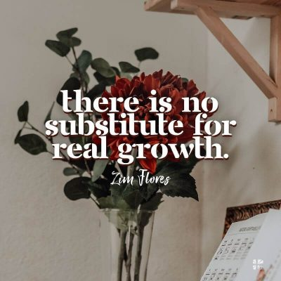 There is no substitute for real growth.