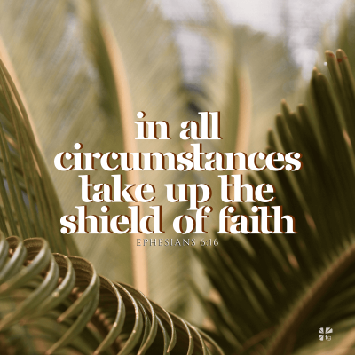 """""""In all circumstances take up the shield of faith"""" Ephesians 6:16"""