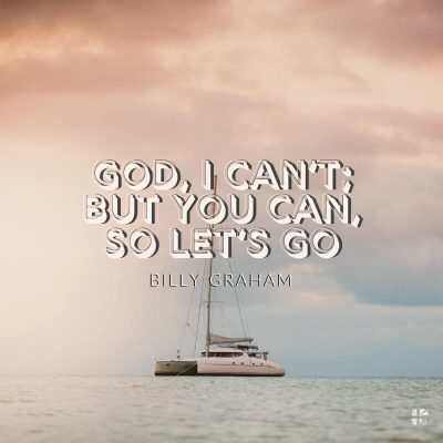 God, I can't; but you can, so let's go.