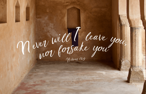 Even in the times when we feel abandoned by God, we are not. We still can cry out, My God. Come, Holy Spirit. The forsakenness of Christ has become a promise of God's eternal presence. He is with us.
