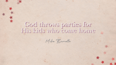 : It's so easy to get upset about God's unfair grace at younger brothers when you've been a Christian for a long time. We have to remember to party! We have to remember to celebrate the amazing abundance of God and our outrageous inheritance! Our hearts are important. Let's not let them get stingy and uptight!