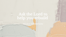 Let's pray today for those who need restoration in their lives, including ourselves. God will help! He's done it in the past and He'll do it again. He's the Master Builder!