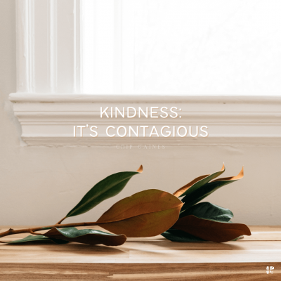 Kindness: it's contagious