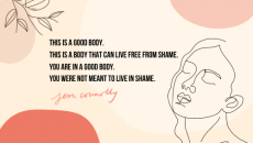 Do you also live in the now-and-not-yet wrestling match of skin and soul. Our bodies are good. We are loved by God… including our bodies. Even when it doesn't feel that way! In this fallen world we're told otherwise, but if we want to live free from shame, we have to live in the truth, right?