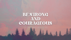 Jesus longs to bring you comfort and healing. His plan for you is good and will be for your good. Be strong and courageous, friend! Believe!