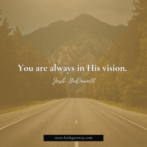 You are always in His vision.