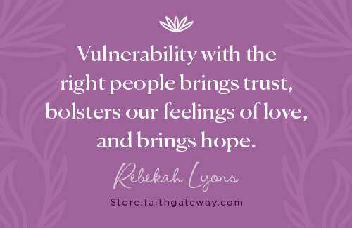 While vulnerability with the wrong sorts of folks fosters feelings of inferiority and judgment, vulnerability with the right people brings trust, bolsters our feelings of love, and brings hope.